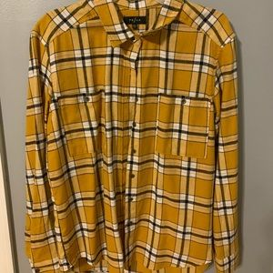 yellow pacsun flannel